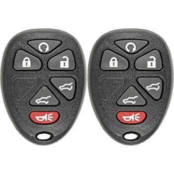qualitykeylessplus Red Replacement Case and Glow Pad 6 Button SUV Keyless Remote Key Fob FCC ID OUC60270 Free KEYTAG