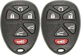 Keyless2Go Keyless Entry Car Key Replacement for Vehicles That Use 6 Button 15913427 OUC60270 Remote, Self-Programming - 2 Pack