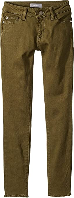 Chloe Skinny with Raw Hem in Camo Green (Big Kids)