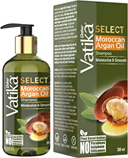 Vatika Select Moroccan Argan Oil Shampoo|Moisturize & Smooth|No Parabens, Sulphate & Silicones -300ml