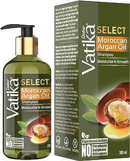 Vatika Select Moroccan Argan Oil Shampoo|Moisturize & Smooth|No Parabens, Sulphate & Silicones -300ml