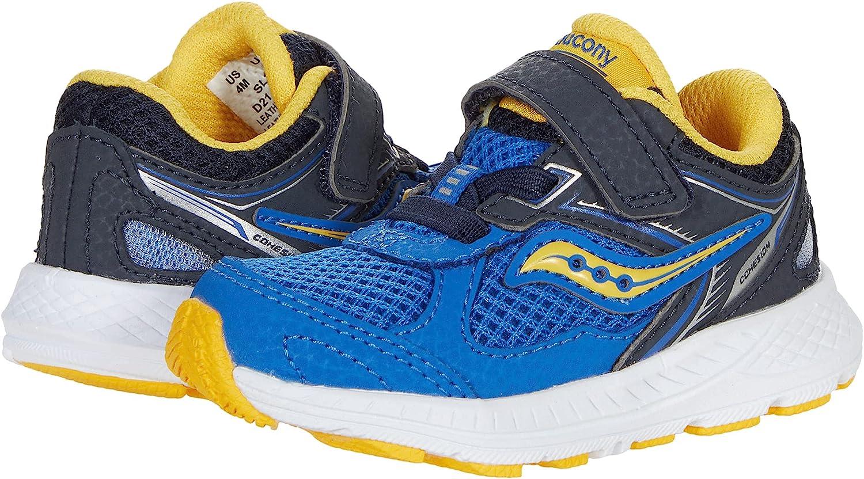 Saucony Cohesion 14 Alternative Closure JR Running Shoe, Blue/Yellow, 9 Wide US Unisex Little_Kid