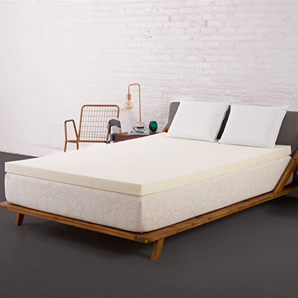 SleepJoy 2 Inch ViscO2 Memory Foam Mattress Topper With Breathable Design Made In The USA King Size