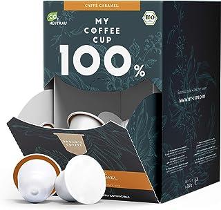 My Coffee Cup – MEGA BOX CAFFÈ CARAMEL – BIO-KAFFEE I 100 Kaffeekapseln für Nespresso³-Kapselmaschinen I 100% industriell kompostierbare Kaffeekapseln – 0% Alu I Nachhaltige Kaffeekapseln