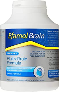 Efamol Efalex Capsules High DHA patented formula, 270 count