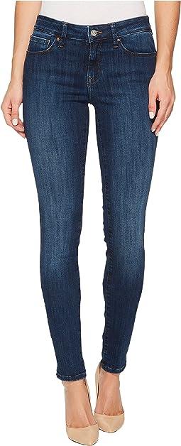 Mavi Jeans - Adriana Mid-Rise Super Skinny in Deep Indigo Tribeca