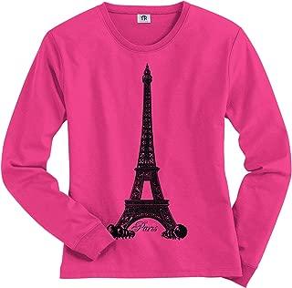 Women's Eiffel Tower Paris France Long Sleeve T-Shirt