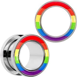 rainbow pride body jewelry