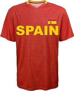 Outerstuff International Soccer Spain Jersey Top, Medium, Red