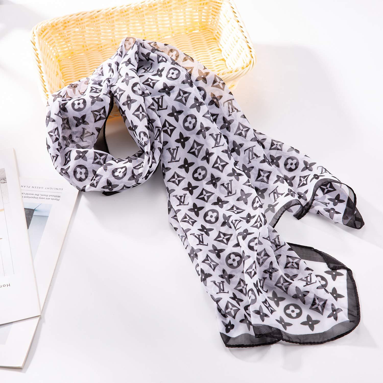 beige2 NYKKOLA Womens Silk Like Scarf Cozy Lightweight Scarves Sunscreen Shawl Wrap For Women