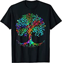 Colorful Life is really Good Vintage Tree Art Cool T-Shirt