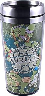 Silver Buffalo NT4387ST Nickelodeon Teenage Mutant Ninja Turtles Mutated in 1984 Stainless Steel Travel Mug, 16-Ounces