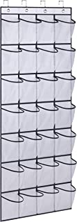 AOODA 28 Large Mesh Pockets Over The Door Shoe Rack, Hanging Shoe Organizer for Closet Hanging Shoe Rack Holder Hanger, White