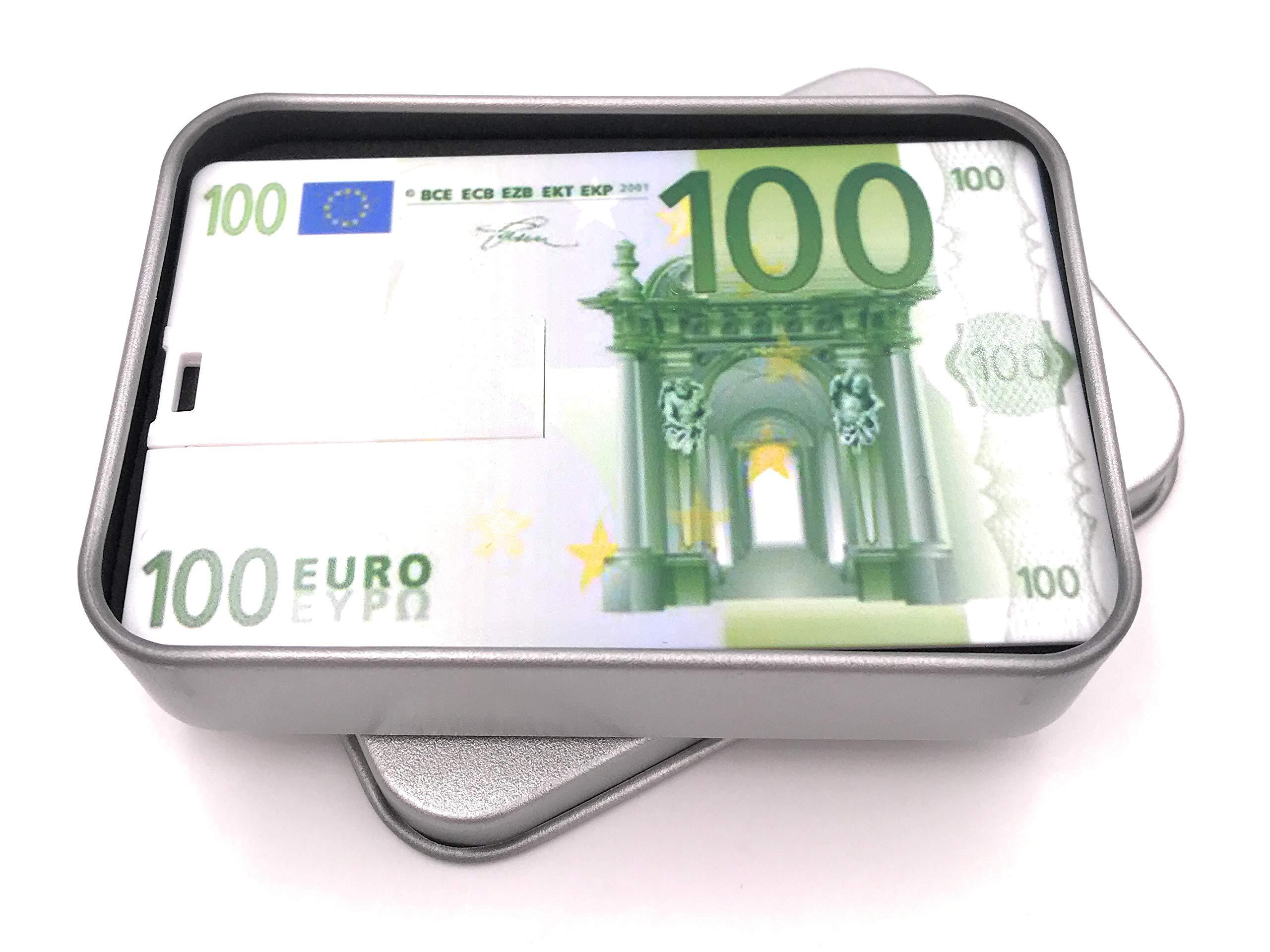 Onwomania Formato de Billetes de Billetes en Euros. Memoria USB Stick en Caja de Regalo de ALU 64 GB USB 2.0: Amazon.es: Electrónica