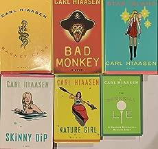 Carl Hiaasen Hardcover Novel Collection 6 Book Set
