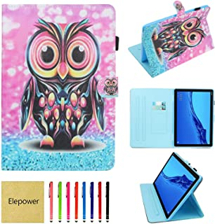 Elepower Folio Case for Huawei MediaPad T5 10, Slim Fit Multi-Angle Stand PU Leather Pattern Cover with Magnetic Closure/C...