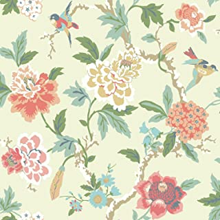 York Wallcoverings Waverly Candid Moment Removable Wallpaper, Beiges