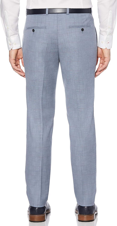 Perry Ellis Mens Portfolio Slim Fit Stretch Plaid Dress Pants Pants