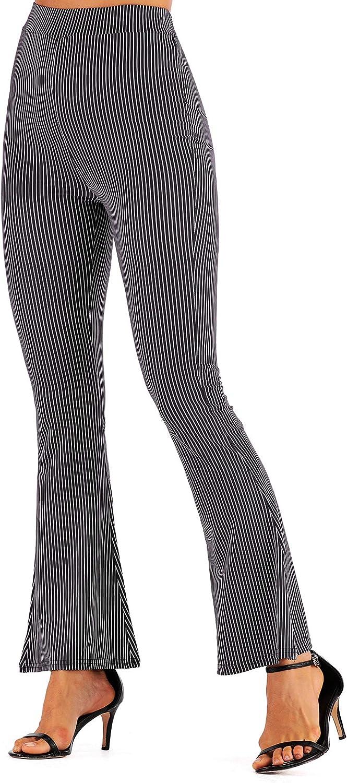 DC RIZDU Women's Flare Leg Pant Printed High Waisted Bell Bottom Pant