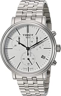 Tissot Mens Carson Swiss Quartz Stainless Steel Dress Watch (Model: T1224171101100)