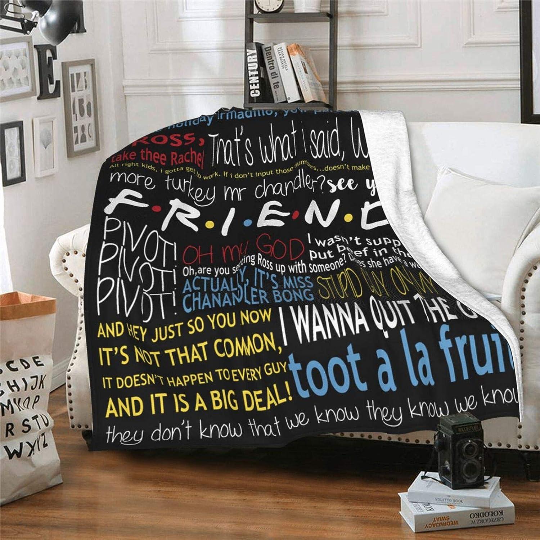 19. Friends Flannel Throw Blanket