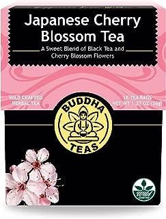 Japanese Cherry Blossom Tea - Kosher, Contains Caffeine, GMO-Free - 18 Bleach-Free Tea Bags