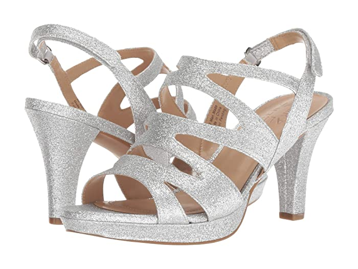 70s Shoes, Platforms, Boots, Heels Naturalizer Pressley Silver Mini Glitter High Heels $98.95 AT vintagedancer.com