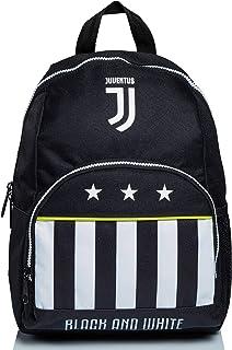 Mochila Small Juventus, Best Match, blanco y negro, para la escuela materna y el tiempo libre