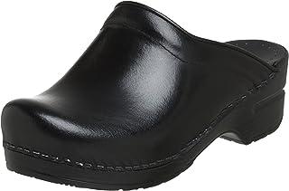 el más barato Dansko Sonja Cabrio Piel–Zuecos para Mujer, Color Negro, Negro, Negro, 38EU 7,5–8B (M) US  marcas de diseñadores baratos