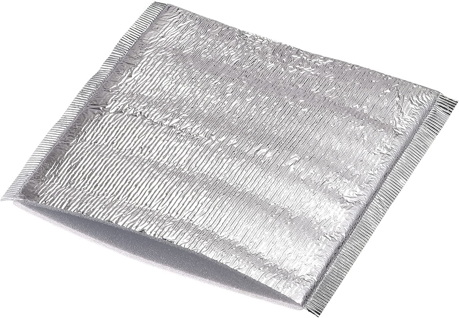 MECCANIXITY Reusable Thermal Insulation Bags,13.65x13.65inch Insulation Aluminum Foil Foam Bag for Delivery Thermal Box Lining (Pack of 10pcs)