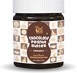 Trubite Chocolate Peanut Butter (Creamy) (350g) | High in Protein | Goodness of Dark Chocolate | No Cholesterol | Rich in ...