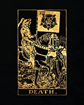 Death: Tarot Card Bullet Journal Notebook - 150 Dot Grid Pages, 8 x 10 inches (Tarot Card Books)