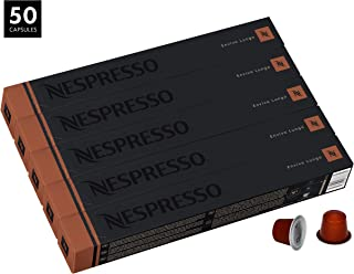 Nespresso Envivo Lungo OriginalLine Capsules, 50 Count Espresso Pods, Dark Roast Intensity 9 Blend, Mexican Robusta & Indian Arabica Coffee Flavors