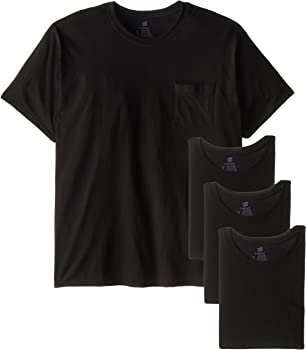 4-Pack Hanes Men's Fresh IQ Pocket T-Shirt (S/M/L/XL/3XL)