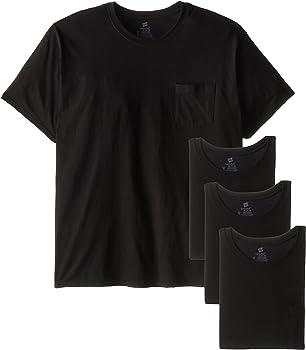 4-Pack Hanes Men's Fresh IQ Pocket T-Shirt (S/M/L/XL/3XL)