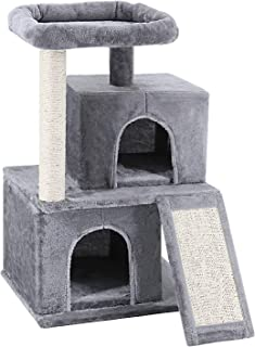ScratchMe Cat Tree Tower with Hammock & Scratching Post