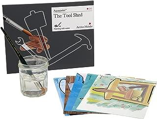 Active Minds Cobertizo para Herramientas Aquapaint: Pintura de Agua Reutilizable / Actividad artística para Personas ancianas con Demencia / Alzheimer's