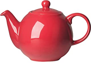 London Pottery Large Globe Teapot, 8 Cup Capacity, Red