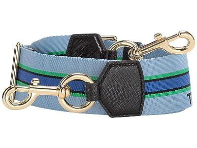 Marc Jacobs Sport Stripe Webbing Strap (Misty Blue Multi) Bags