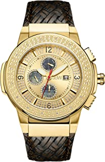 JBW Luxury Men's Saxon 16 Diamonds Multi-Function Swiss Movement Watch - JB-6101L-E