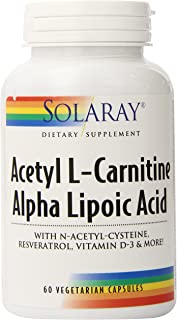 Solaray Acetyl L-Carnitine and Ala Supplement, 60 Count
