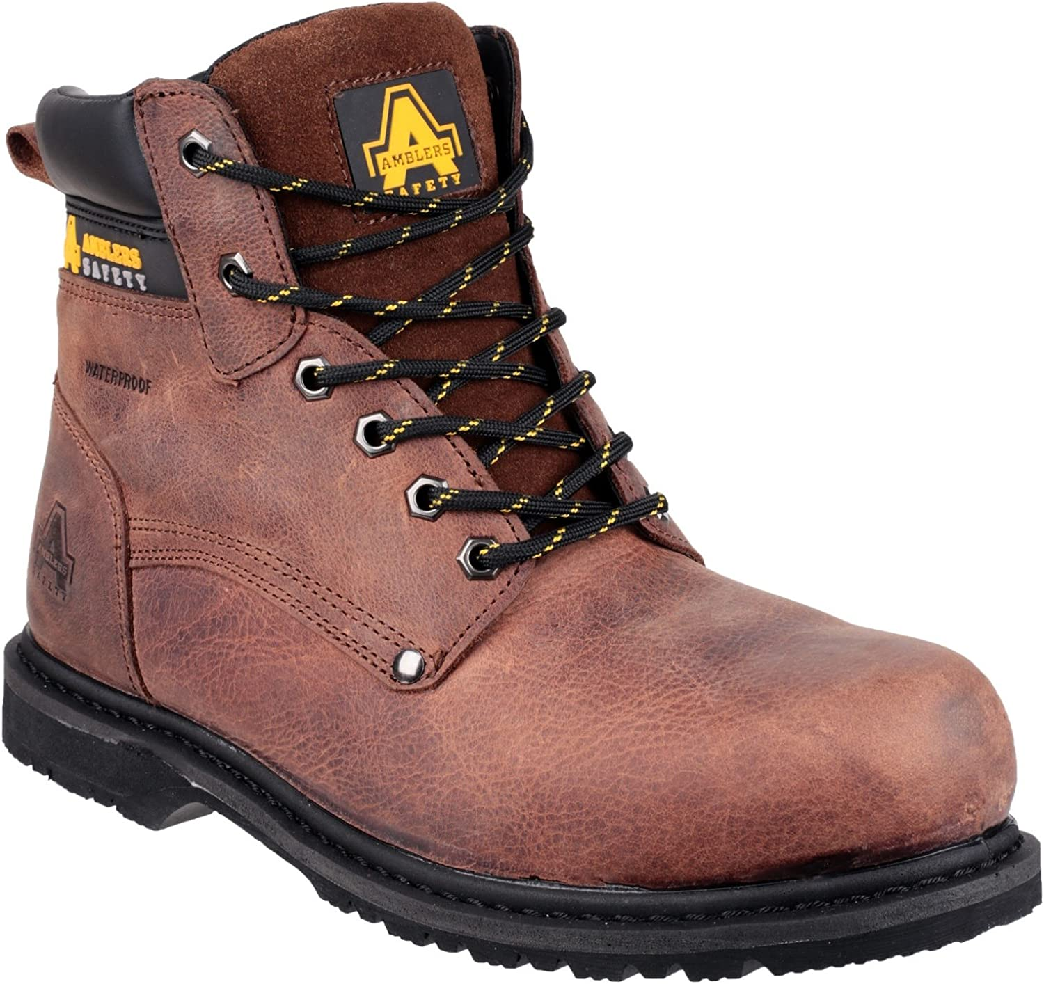 Amblers Safety Mens FS145 Waterproof Welted Lace up Safety Workboot