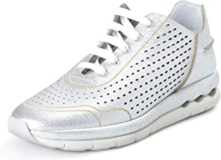 SALVATORE FERRAGAMO Women's GILS Silver Leather Fashion Sneakers Shoes Sz US 9.5M IT 39.5M