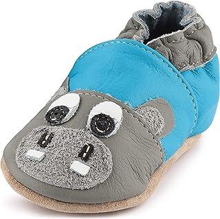 Ladeheid Pantofole Antiscivolo Bambino e Bambina in Pelle LAFIO101