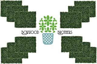 Boxwood Brothers Artificial Boxwood Hedge Panel - 16 x 24 Inch Panel/12 Pack - Outdoor/Indoor Use - UV Protected Artificial Grass Privacy Fence for Garden/Backyard/Home/Office/Grass Backdrop/Weddings