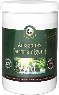 Regenbogenkreis Amazonas Darmreinigung, 420 Kapseln, ballaststoffreich dank Bio Flohsamenschalen-Pulver, einfache Darmsanierung Zuhause, fördert Verdauung & Entgiftung, Leberreinigung, vegan
