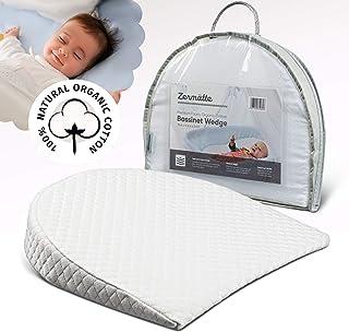 Zermätte Bassinet Wedge Pillow for Reflux Baby Sleep- for Infant and Newborn Colic & Congestion - Premium Organic Cotton C...