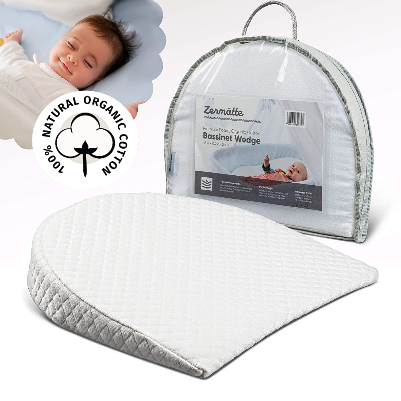 Zermätte Bassinet Wedge Pillow for Reflux Baby Sleep