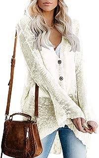 Womens Boho Knit Cardigan Loose Lightweight V Neck Button Down Sweater Sheer Henley Tops