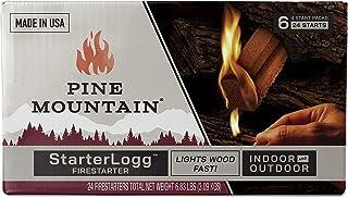 Pine Mountain StarterLogg Select-A-Size Firestarting Blocks, 24 Starts Firestarter Wood Fire Log for Campfire, Fireplace, ...